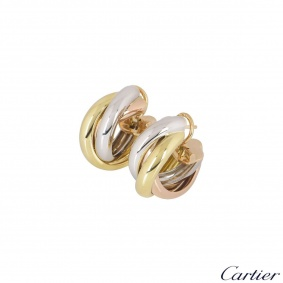 Cartier Tri-Colour Gold Trinity Earrings B80083231